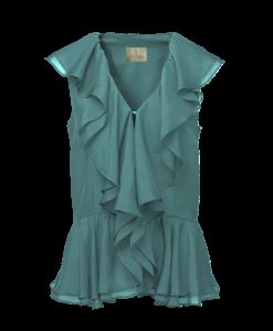 Thi Thao ruffled shirt - Green