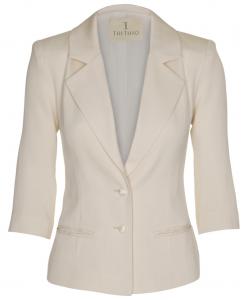 100-1501-024 Three quarter jacket_Ivory