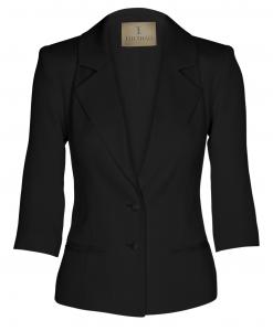 100-1501-024 Three quarter jacket_black