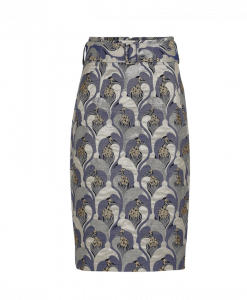 Jaquard skirt with slimming effect
