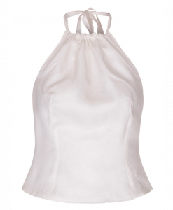 White silk top with lining
