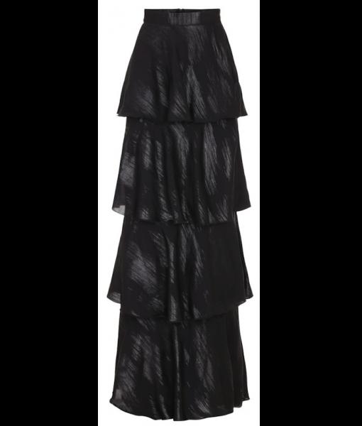 Layered skirt – black & Silver