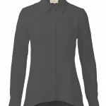 Klassisk silkeskjorte – sort