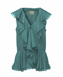 Thi Thao ruffled shirt - Green