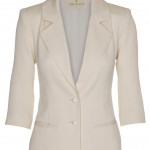 100-1501-024 Three quarter jacket_Ivory