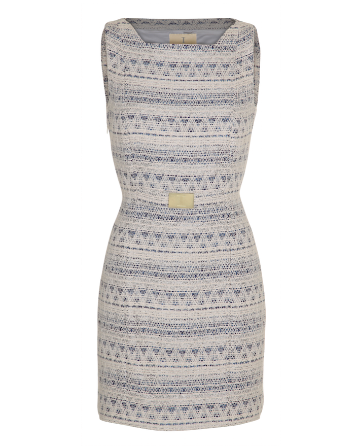 Coco dress white-blue