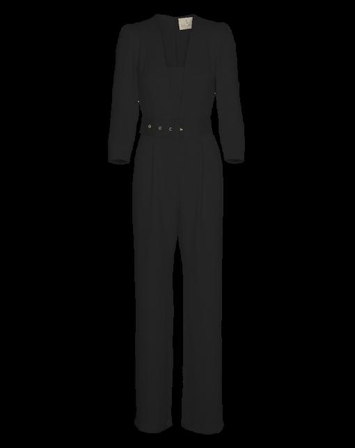 Jumpsuit Low V-neck_Black