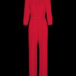Jumpsuit Low V-neck_Red
