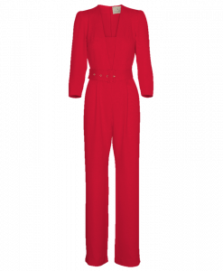 Jumpsuit Low V-neck_Red