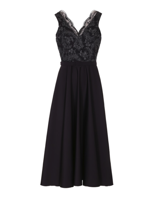 Black galla dress