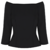 Black blouse – off shoulder