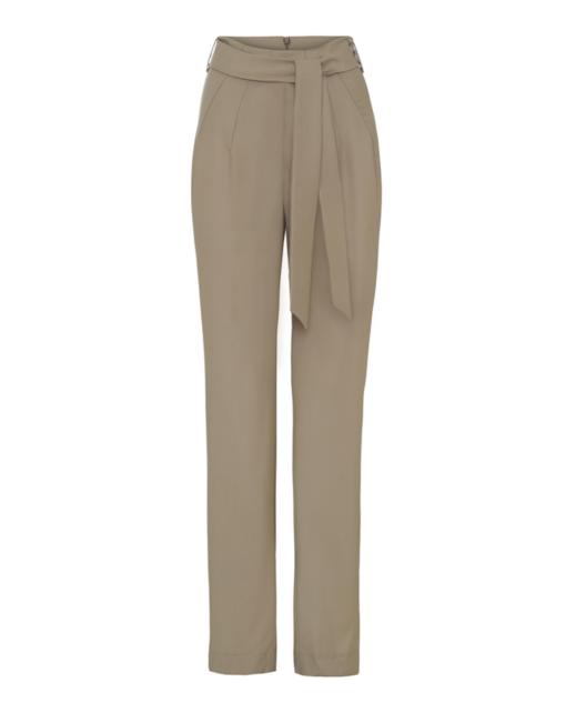 High-waist slimming pants – creme