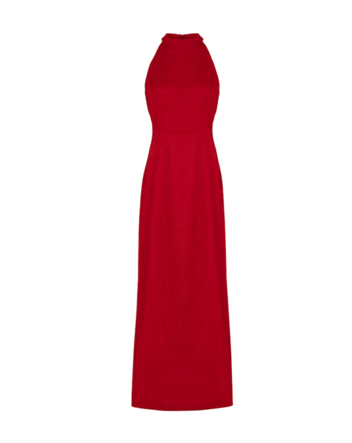 Red lace galla dress – red